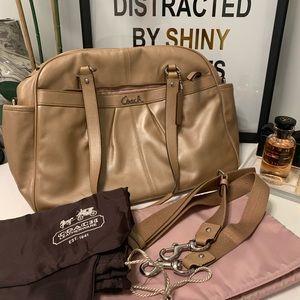 Coach pearl leather diaper bag